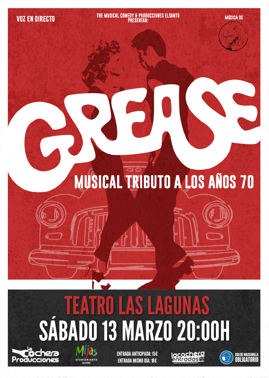 GREASE, MUSICAL TRIBUTO A LOS 70